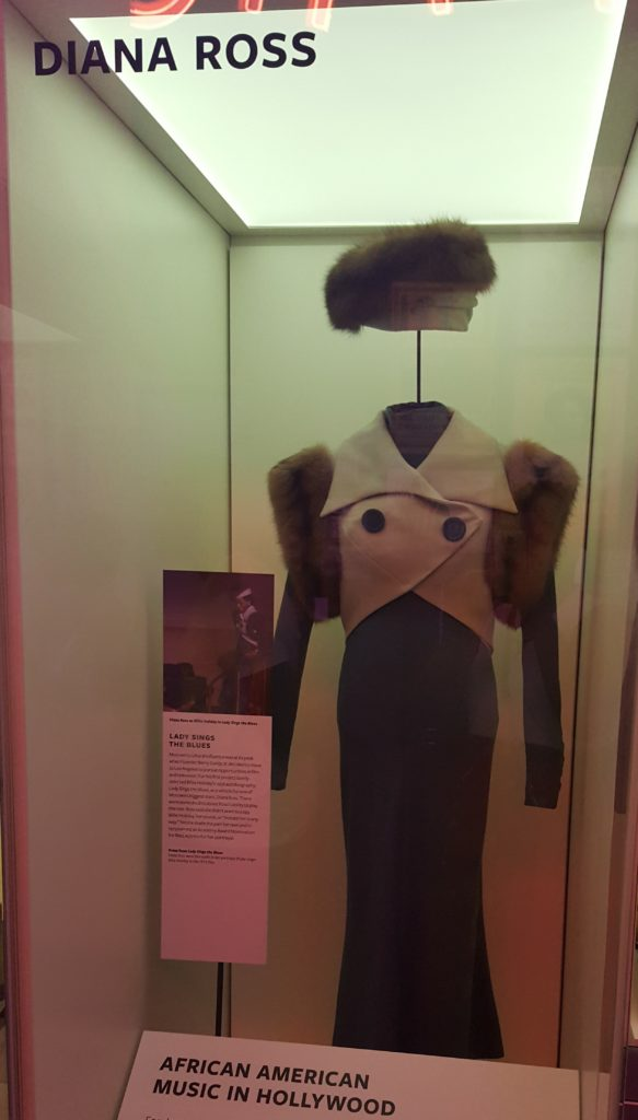 "One of the flyest pieces of clothing in the museum. Diana Ross' fur shrug from ""Lady Sings the Blues."""